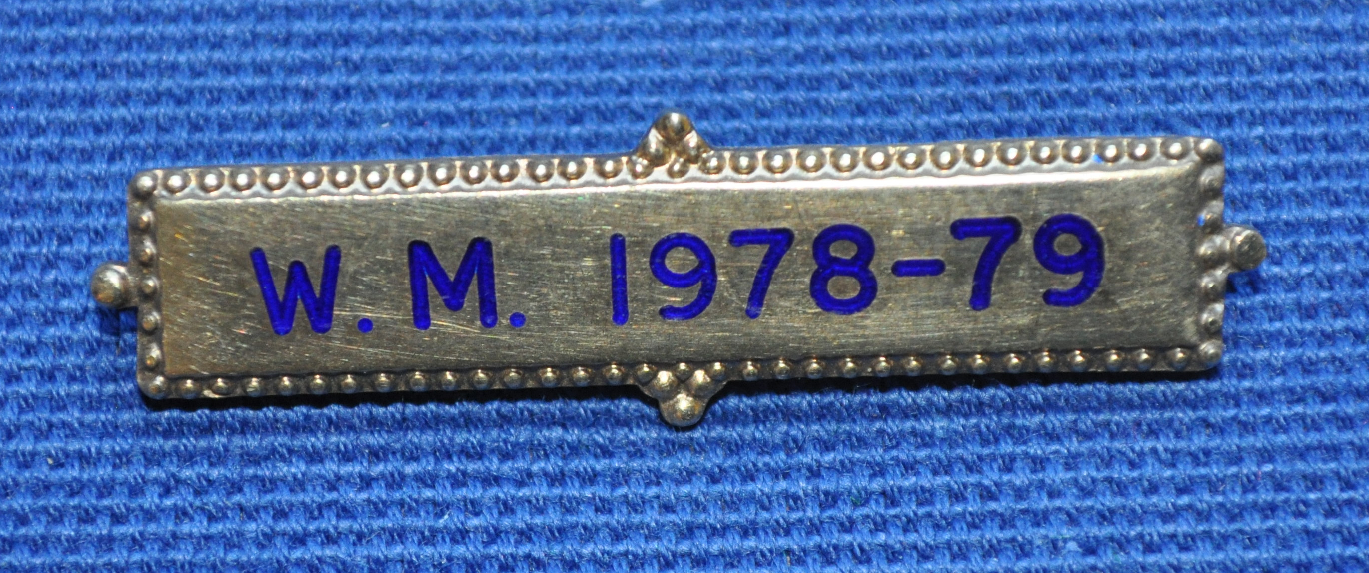 Breast Jewel Middle Date Bar 'WM 1978-79 - Engraved