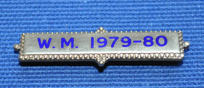 Breast Jewel Middle Date Bar 'WM 1979-80 - Engraved