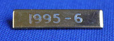 Breast Jewel Middle Date Bar 'WM 1995-6 - Engraved