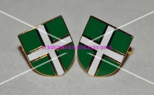 Devon Flag Gold Plated Enamel Cufflinks