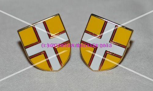 Dorset Flag Gold Plated Enamel Cufflinks
