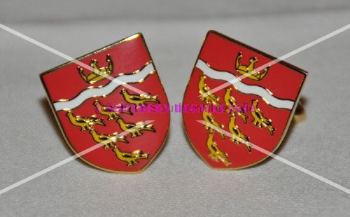 East Sussex Flag Gold Plated Enamel Cufflinks