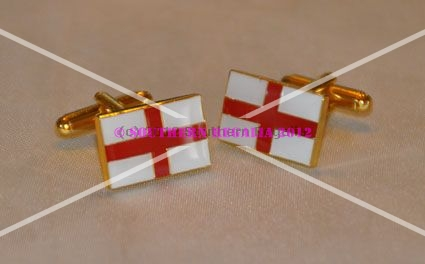 England St. George Flag Rectangular Cufflinks