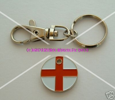 England 3-in-1 Keyring Trolley & Locker Token