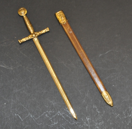 Masonic Letter Opener - 10in length (250mm) - Excalibur Sword