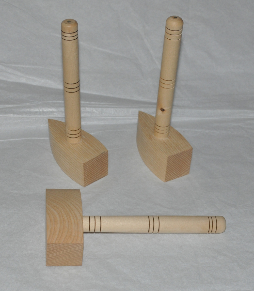 Wooden Gavel set - Ash with Maple handle
