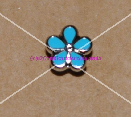 Forget Me Not Enamel Lapel Pin