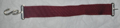 Apron Belt Extension - Maroon with Silver fittings