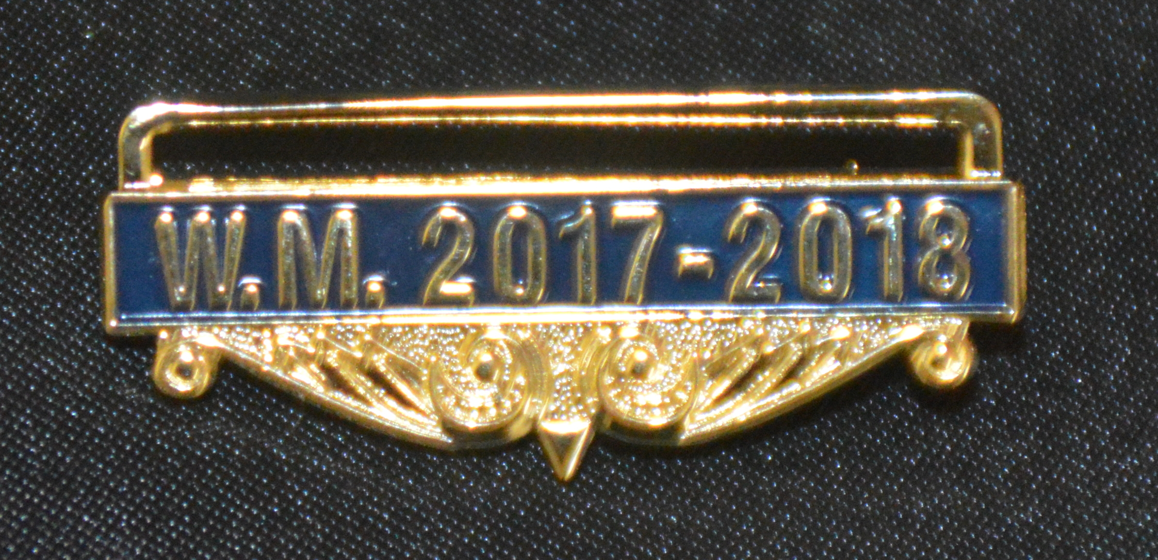 Breast Jewel Lower Date Bar - WM 2017-2018 - Blue Enamel