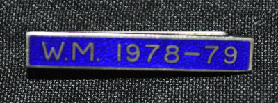Breast Jewel Lower Date Bar - WM 1978-79 - Blue Enamel