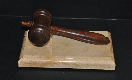 Wooden Gavel with Support