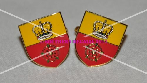 Hampshire Flag Gold Plated Enamel Cufflinks