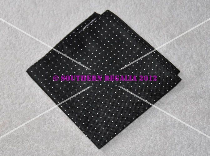 Handkerchief - Black with Spots