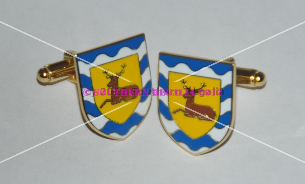 Hertfordshire Flag Gold Plated Enamel Cufflinks