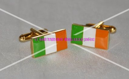 Ireland - Irish Tri-Colour Rectangular Flag Cufflinks
