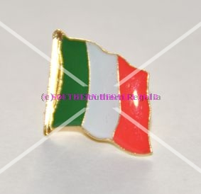 Italy Flag Enamel Lapel Pin Badge