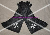 Knights of Malta Leather Gauntlets (Large)