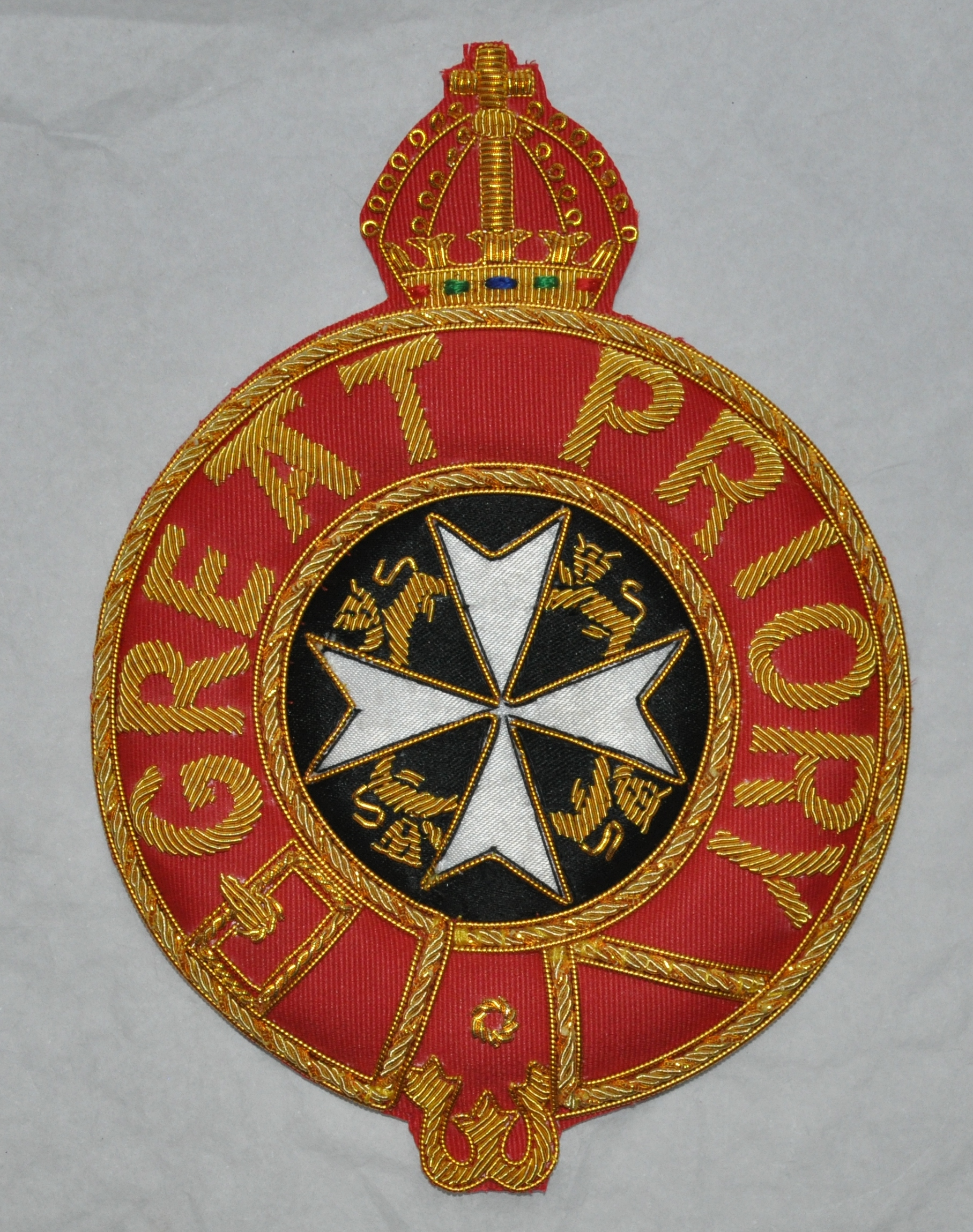 Knights Malta - Great Prior - Mantle Badge - Embroidered