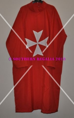 Knights of Malta Tunic (Crimson - English)