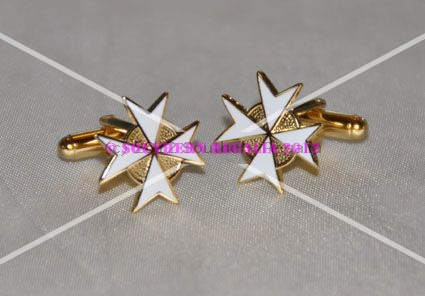 Knights of Malta Cross Cufflinks