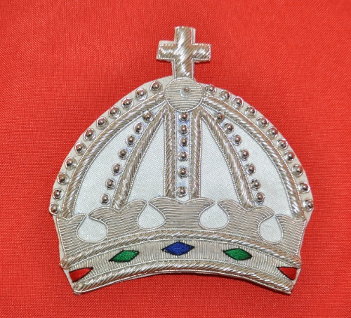 Knights Malta - Great Prior - Crown Mantle Badge - Embroidered