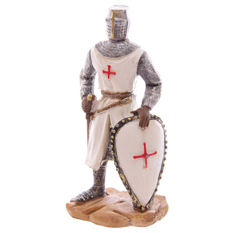 Knight Crusader - Standing with Shield (12.5cms)