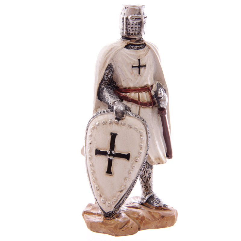 Knight Crusader - Standing with Sword & Shield in r/h (12.5cms)