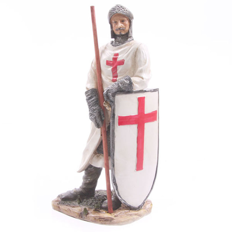 Knight Crusader - Standing with Staff (20 cms)