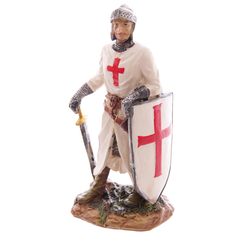 Knight Crusader - Standing with Sword & Sheild (16 cms)