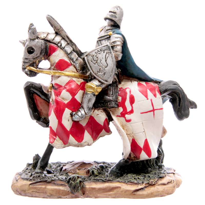 Knight Crusader - Horseman with Red Diamond Coat