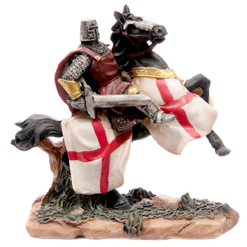 Knight Crusader - Horseman with Red Tabbard