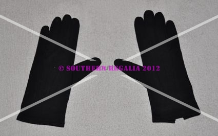Knights Templar Black Cotton Gloves (Large)