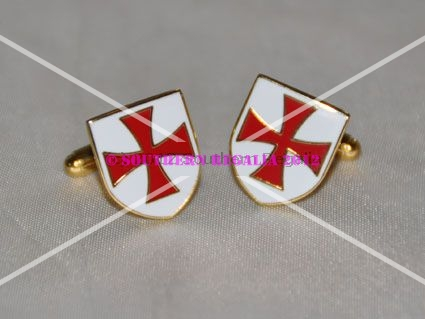 Knights Templar Cross Shield Cufflinks