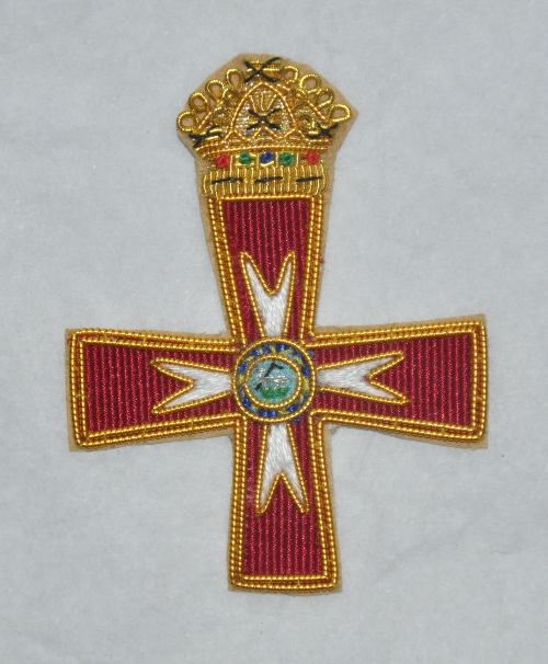 Knights Templar - (GCT / KCT) - Cap Badge - Embroidered