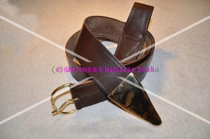 Knights Templar Leather Belt & Standard Frog [Brown]