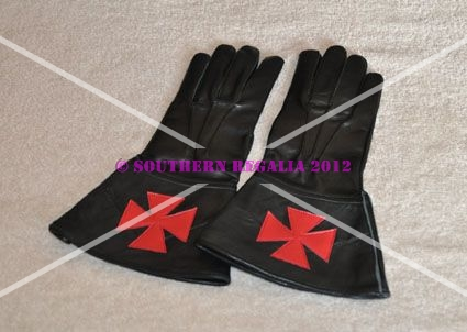 Knights Templar Leather Gauntlets (Large)