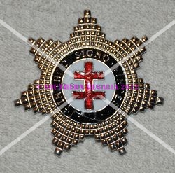 Knights Templar Preceptors Breast Star