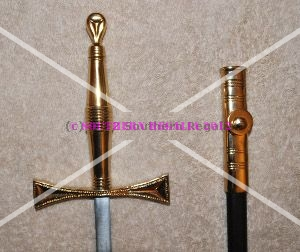 Knights Templar Standard Preceptors Sword - Gilt - 900mm