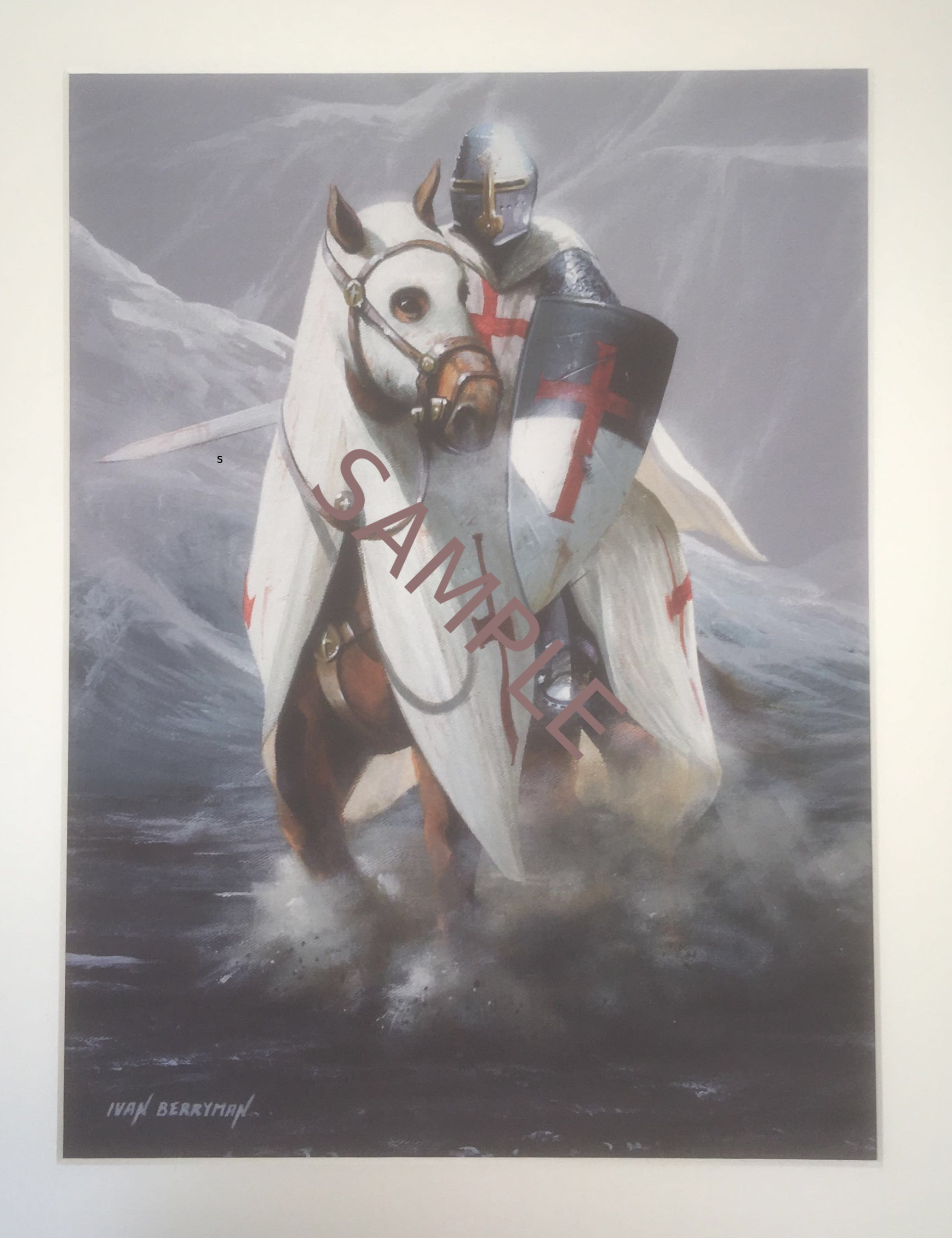 Knight Templar Crusader - Limited Edition Print #1