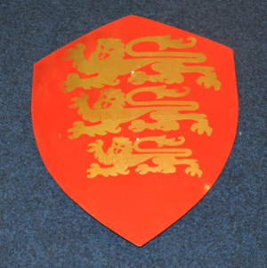 Knights Templar Shield - 3 Lions (Leopards) - 500mm