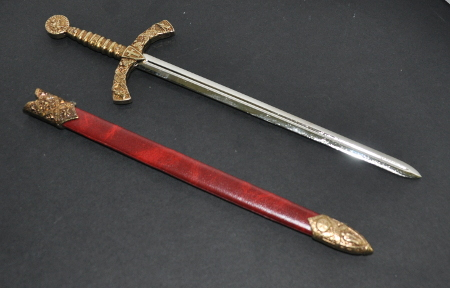 Masonic Letter Opener - 10in length (250mm) - Knights Templar