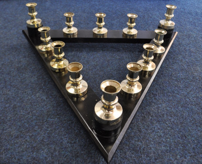 Knights Templar Sepulchre Triangular Candle Array