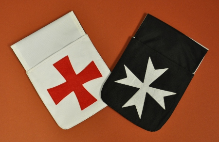 Knights Templar / Malta Belt Pocket Pouch (reversible)