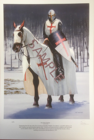 Knight Templar Crusader - Limited Edition Print #2