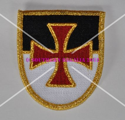 Knights Templar Shield Embroidered Patch - large