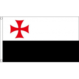 Knights Templar with Beausant Flag (5' x 3') with eyelets