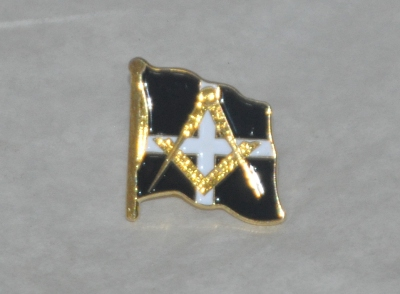 Cornwall Masonic Gold Plated Lapel Pin