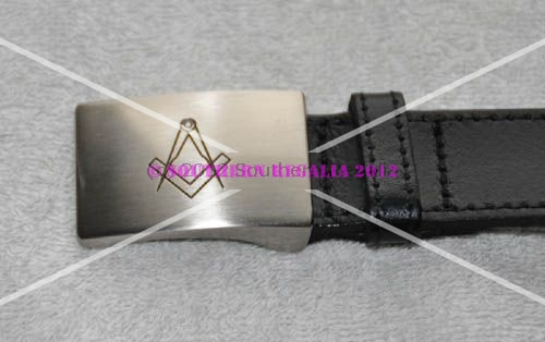 Masonic Leather Belt (Max 32'')