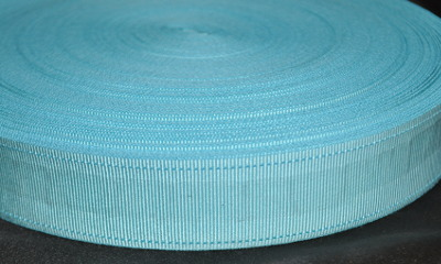 Craft Light Blue Ribbon (Belt Ribbon) - 32 mm (per meter)