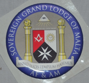 Lodge Crest Resin Sticker